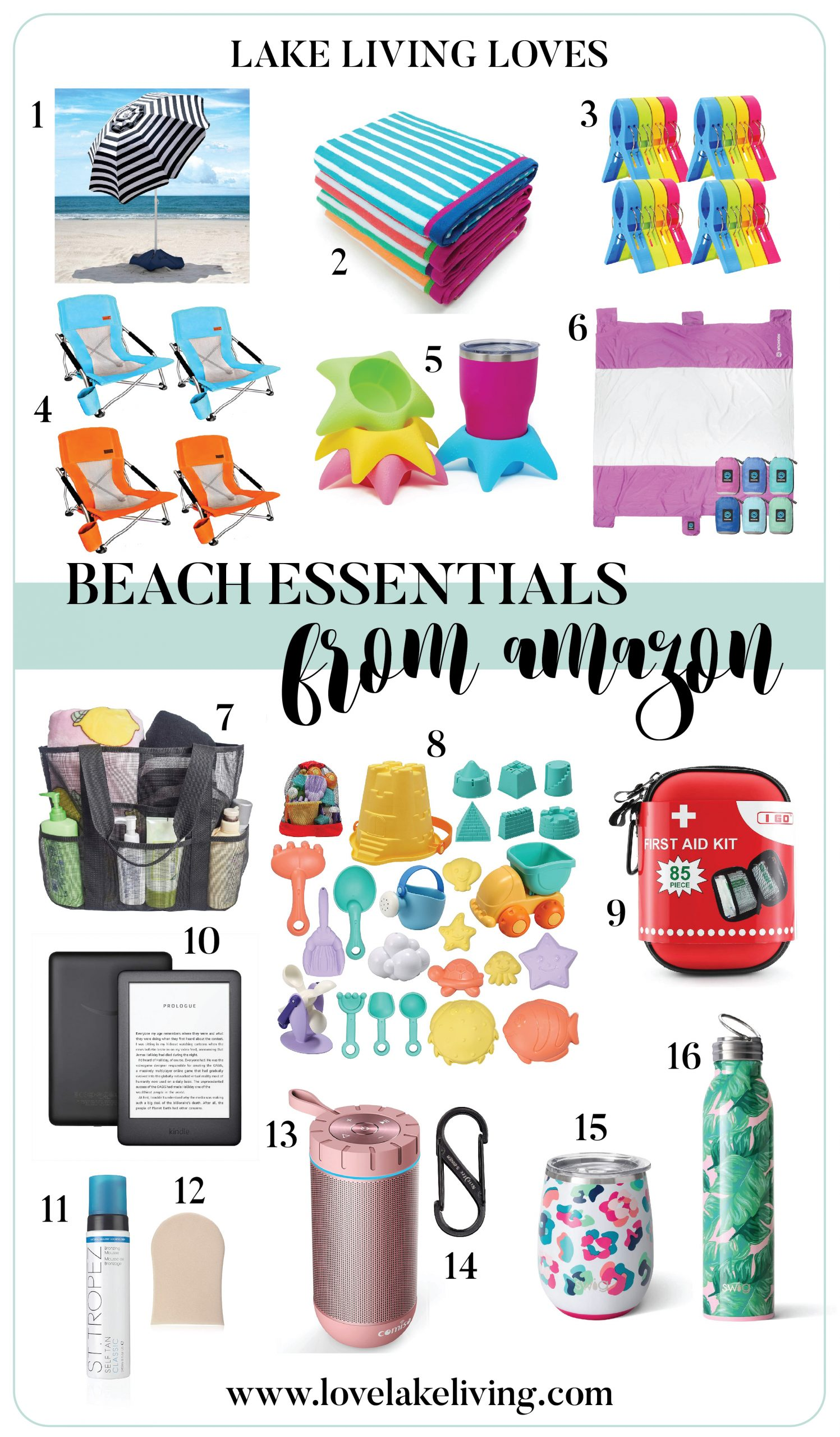 Lake Living Loves Beach Essentials From Amazon Love Lake Living